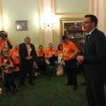@DanielAndrewsMP welcoming 60 unionists to #springst for #workersparliament. https://t.co/Oe4oabFifY