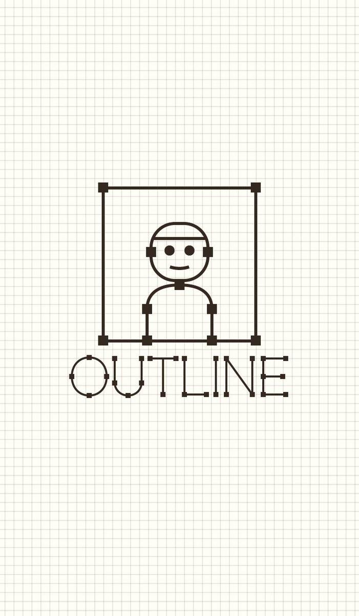 イラレ好きなので「アウトライン表示」をモチーフにした #LINE着せ替え 作ってみましたよ〜!よろしくオネガイシマスです! https://t.co/6UQfo9sq2T https://t.co/3Mk0JKinso