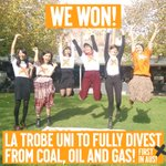 BREAKING: @latrobe becomes 1st uni in Australia to commit to full divestment from the top 200 fossil fuel companies https://t.co/sNQVaaZ0Lj