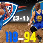 OKC DOMINATES IN GAME 4 #NBAPlayoffs https://t.co/TgPMbo3sDU