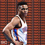 Russell Westbrook (36 Pts, 11 Ast, 11 Reb) finishes with his 3rd career 30-Pt postseason triple-double in OKCs win. https://t.co/vrLbH0gAHi