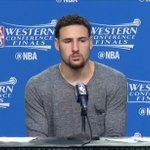 Klay: I am surprised (to be down 3-1). Id be lying to you if I said I wasnt LIVE: https://t.co/qSy6npJm8n https://t.co/17b1Ue44hO