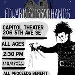 #EdwardScissorhands benefit for #Olympia #Zine Fest, 6/26 @ the Capitol Theater! https://t.co/USMuZpixOF #olywa https://t.co/ySzbwnqY5v