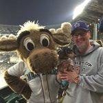 I got to meet @MarinerMoose at the @Mariners #barkinthepark tonight! #GoMariners #Moose #baseball #MLB https://t.co/xkcwisNaNz