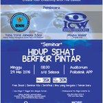 """#Jakarta @JakbanFKMPI Seminar """"Hidup Sehat Berfikir Pintar"""". 29 Mei 2016. More info >>> https://t.co/tl4dLTdogs… https://t.co/PspDBp6Wdt"""