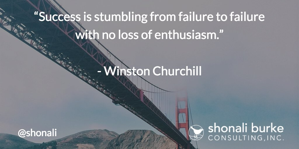 """Success is stumbling from failure to failure with no loss of enthusiasm."" ~Winston Churchill https://t.co/iC3SxVLBWe"
