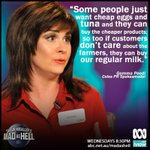 """If customers dont care about the farmers, they can buy our regular milk."" #madashell https://t.co/xBE3sA51WW"
