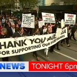TONIGHT: Angry dairy farmers take their fight for financial justice to the city. @Brett_McLeod reports #9NewsAt6 https://t.co/REAdSQ7eII