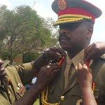Muhozi Kainerugaba now full Maj Gen. Decorated by wife Charlotte and Chief of Defence Forces Katumba Wamala https://t.co/Ceppa4DXyt