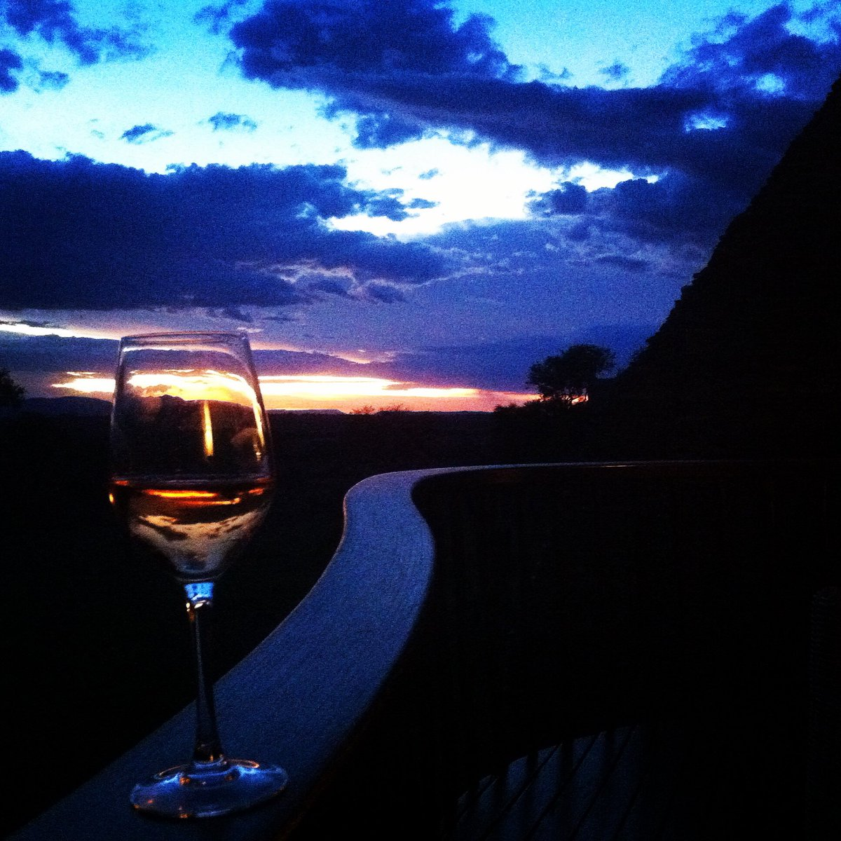 Sipping wine on my private balcony at @FSSerengeti to the sound of wildebeest and hyenas. #travchat https://t.co/g9hwUM8tEf