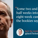 A Shorten Labor government? The bookies say no, writes @jacktheinsider. #ausvotes https://t.co/wO596gCkEu https://t.co/sGhbQMFQFe