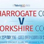 GAME DAY! 530 start gates open 430 #Harrogate v @YorkshireCCC #T20 £5 on entry U15s FREE #BewareOfaWoundedViking https://t.co/qSM1E1Pyjt