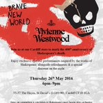 Head to @FollowWestwood #Cardiff tomorrow for a #Shakespeare400 themed evening - cocktails, discounts and more! https://t.co/ldQ6fvREEf