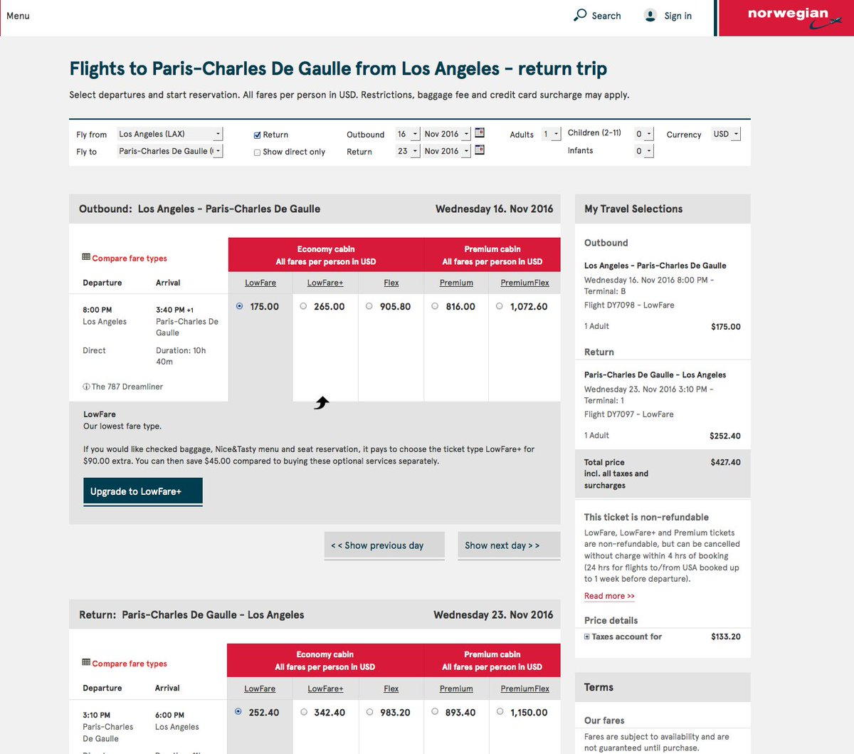 RT @airfarewatchdog: Los Angeles LAX to Paris CDG $428 on @Fly_Norwegian for fall travel.