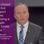 ...then we stopped the boats. End of story. - Barnaby Joyce. Clever, wot? #auspol #ausvotes #regionaldebate https://t.co/cRayILSlqy