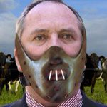 Barnaby Joyce says hes Hannibal Lecter #ausvotes #qldpol https://t.co/HzBWRMy0GD https://t.co/U8mvGkRQsS