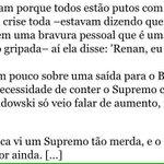 """Dilma sobre encontro com o presidente do STF, no auge da crise: """"Ele só vejo falar de aumento, isso é inacreditável"""" https://t.co/9zjmytCm0n"""