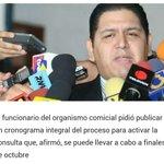 Mitzy. Luis E. Rondón dice que RR se puede hacer en octubre. Es RECTOR del CNE, no un paracaidista caído del cielo https://t.co/ykKvvbLD22