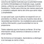 """Lee por favor lo que acabo de publicar en #facebook. """"los Huecos Se Llenan"""" #Saltillo https://t.co/tvjvRMgpyz https://t.co/nRggmAsYnO"""