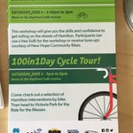 Join us for Bike Like a Boss at Bayfront, a @100in1DayHam workshop for cycling in #HamOnt followed by a cycle tour! https://t.co/CRUh5NZJpQ