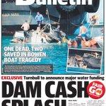 Thursdays Townsville Bulletin front page. https://t.co/xyC3JOV0wW