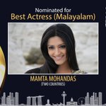 RT @siima: Nominated for BEST ACTRESS Malayalam is @mamtamohan for #TwoCountries. Vote on siima.in #SiimaNominations #SIIMA2016 https://t.c…