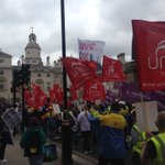 Some great pics of Unite steelworkers marching through London #SaveOurSteel @WalesOnline @ITVWales @BBCWalesNews https://t.co/3TTClYTQEi