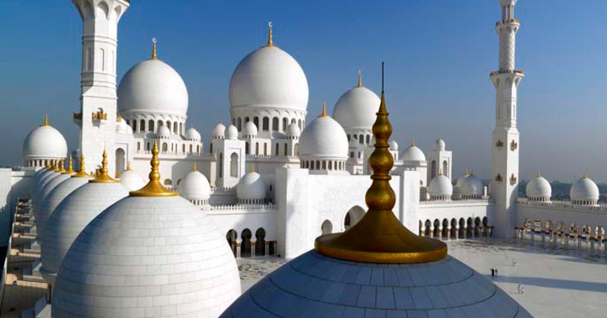 Sheikh Zayed Mosque was ranked world's second favourite landmark by TripAdvisor. Read more: