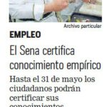 .@SENAComunica certifica conocimiento empirico de los colombianos, Maratón #TuExperienciaVale, via: @ELTIEMPO https://t.co/WkCEpc2Q4v