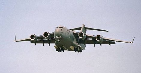 Watch a giant C-17 military aircraft take to the skies from our airfield earlier today!