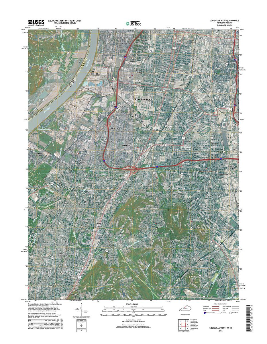 New us topo maps for kentucky add tiger road data & @usfws wetlands ...