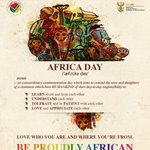 South Africans are united in celebrating our diversity with compatriots from the rest of the continent #AfricaDay https://t.co/MB4PkGWIh9