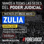 #Zulia vamos todos a exigirle al Poder Judicial respeto a nuestros derechos y a la Constitución. ¡Te esperamos! https://t.co/jtzHaQGccM
