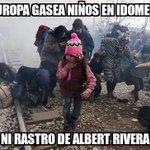 Europa gasea niños en Idomeni. Ni rastro de Albert Rivera, está en venezuela con 20 periodistas denunciando censura https://t.co/v5dwKV99Yu