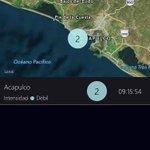 Se registra sismo con epicentro cercano a Acapulco, Gro., con intensidad débil. https://t.co/1aR4rPdP8M