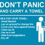 A towel is one of the most massively useful things a driver can have. Here are some of its many uses. #TowelDay https://t.co/HAltbd1Qjq