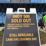 Wonder when the next time we will see this sign @IMS #IndyCar #Indy500 https://t.co/g9jD2Jv4CB