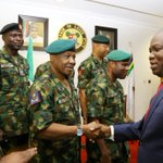 Today, I hosted the Chief of Army Staff, Lt. Gen. Tukur Buratai at the Lagos House, Ikeja https://t.co/v9GovBByQp https://t.co/7wqYQ5BOfm