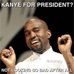 Kanye For President? Not such a crazy idea anymore... 🤔😂 https://t.co/JhEQOgo1DC