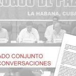 "LA HABANA | COMUNICADO | Dinámica positiva en discusión de punto ""Fin del Conflicto"" | Leer→ https://t.co/0wqRqMDVWI https://t.co/34P3Pywt6g"