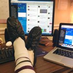 """Heres our web producers sockfie (""""sock"""" + """"selfie"""") for the #RockOneSock campaign! Send us *your* sockfies! https://t.co/KlwXPNxsxq"""