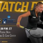 MATCH DAY for @beatriz_msantos!!! 🎾: #NCAATennis  📍: Tulsa, Okla. 🕑: 2:30 p.m. 📺: https://t.co/rFZF4xl1Pf  #MIZ🐯🎾 https://t.co/pnlAxc6ttg
