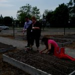 Enjoying the great weather planting at the community garden @SustainableMoCo https://t.co/ClHg2h4h6m