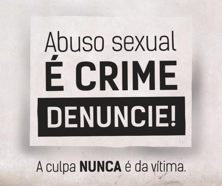 #nãosecale em caso de abuso sexual ou #estupro. A culpa NUNCA é da vítima. Denuncie. https://t.co/4izcLf2bYP