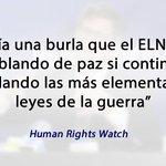 HRW aseguró que si el ELN secuestró a periodistas estaría violando el DIH. https://t.co/PaKzcTEzDa https://t.co/DmT7bdOMSP