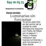 *ALUMBRADO* no prende en Moctezuma esq Pablo de Mejía, Z. Centro #Saltillo 11:20 @DiarioCoahuila @sprimariosalt https://t.co/PPwAip62XV