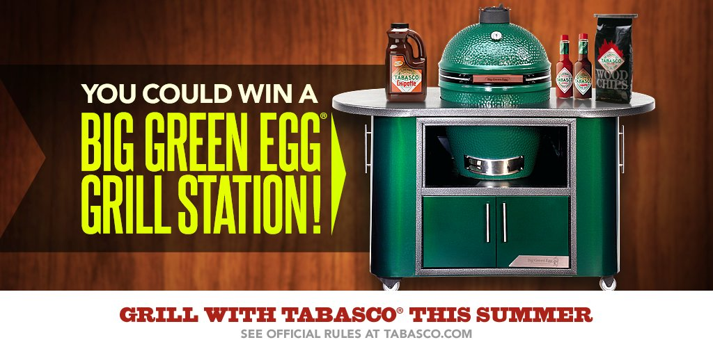Grill w/ TABASCO® & enter for a chance to win a Big Green Egg® Grill Station + more! Rules: https://t.co/dbI5zqlGzN https://t.co/XWcH7fgELa