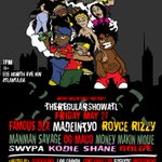 #TheRegularShowATL Presents @madeintyo @roycerizzy @OGMaco @FamousDex + MORE Live Friday‼️🔥 Text 4044288110 for TIX https://t.co/Qi2rsW70yy