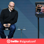 """The world's best VR system is your brain. @rabovitz wants @magicleap to be a """"code processor"""" to it. #signalconf https://t.co/ZEfDmyfpLm"""