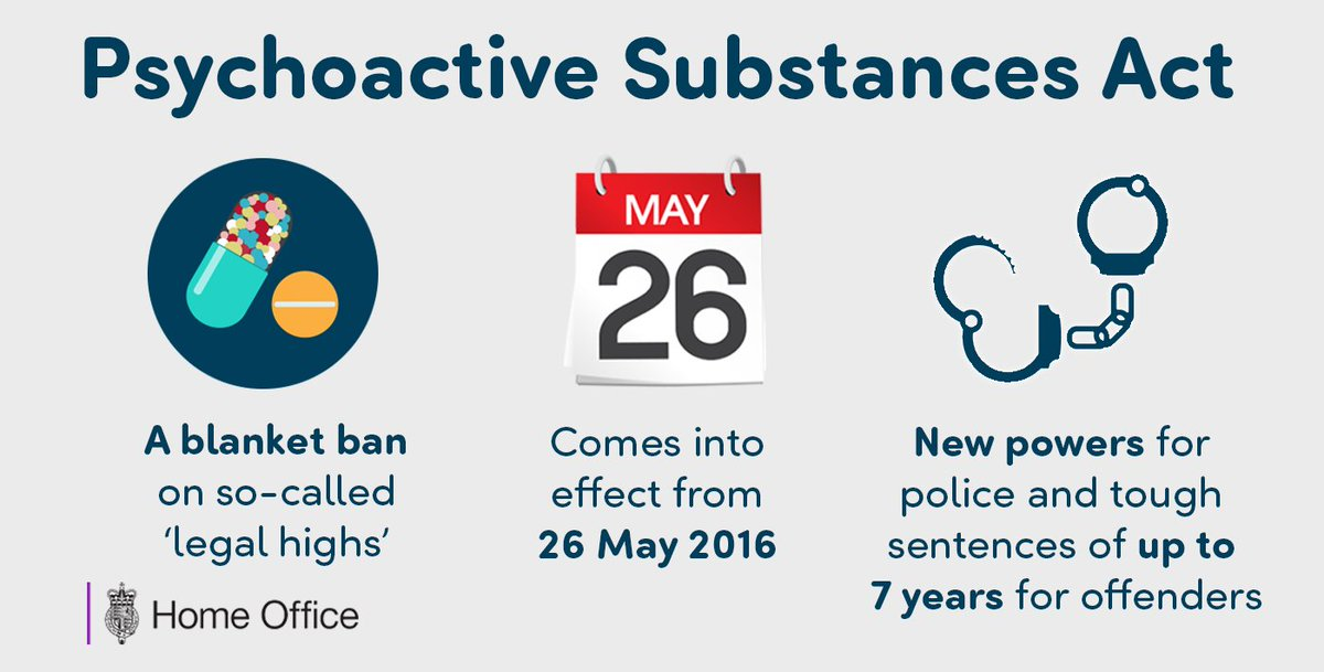 Psychoactive Substances Act, which bans 'legal highs', comes into force today: https://t.co/VExNZVSEBT https://t.co/DQn9LQHwFF